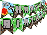 POP parties Pixel Party Happy Birthday Banner