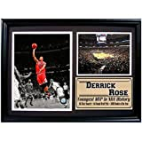 Encore Select 127-05 NBA Chicago Bulls Framed Derrick Rose #1 Print, 12-Inch by 18-Inch