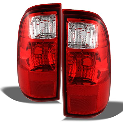 450 Superduty OE Replacement Red Clear Tail Lights Driver/Passenger Rear Lamps Pair ()