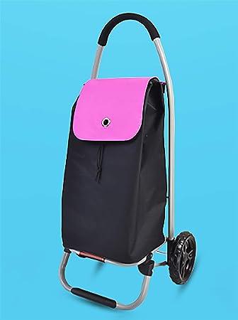 YGUOZ Ligero Plegable Carrito de Compras, Carrito de Escalada Carro Compra con 2 Ruedas, Carro Compra 2 en 1 (30L),Pink: Amazon.es: Hogar