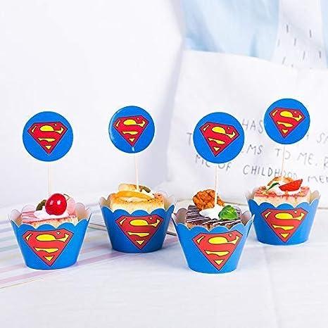 Amazon.com: Astra Gourmet Superman - Juego de 24 adornos ...