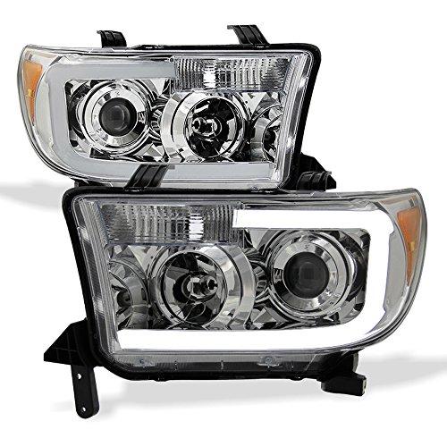 ACANII - For 2007-2013 Toyota Tundra Pickup 08-17 Sequoia LED Tube Headlights Headlamps Driver + Passenger Side