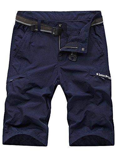 Men's Outdoor Expandable Waist Lightweight Quick Dry Shorts