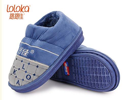 CWAIXXZZ pantoufles en peluche Chaussons en coton paquet femelle avec ses chaussures sur lépais, antidérapants cute cartoon des couples hommes coton rdp ,36-37 (35-36 pour un code PIN, un 8524rouge