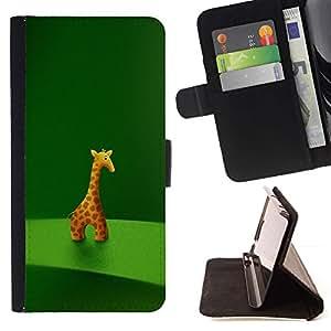 Momo Phone Case / Flip Funda de Cuero Case Cover - Animal carácter de la jirafa Estatuilla Arte Dibujo de la historieta - Samsung Galaxy S6 EDGE