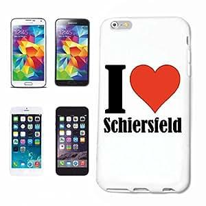 """cubierta del teléfono inteligente iPhone 6 """"I Love Schiersfeld"""" Cubierta elegante de la cubierta del caso de Shell duro de protección para el teléfono celular Apple iPhone … en blanco ... delgado y hermoso, ese es nuestro hardcase. El caso se fija con un clic en su teléfono inteligente"""