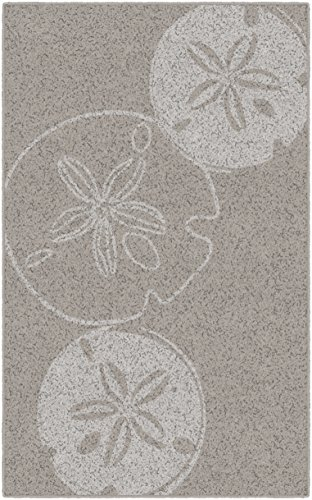 Sand 3x5 Area - Brumlow Mills EW10165-40x60 Beige Sand Dollars Neutral Seashell Beach Area Rug, 3'4