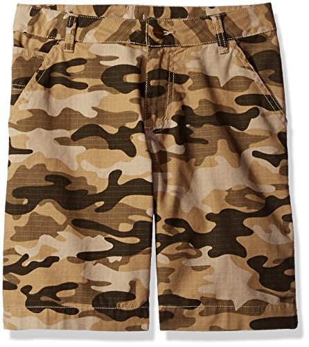 Carhartt Toddler Boys' Ripstop Dungaree Short, Tan Camo, 2T (Tan Camo)