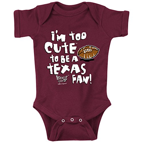 Texas A&M Aggies Fans. Too Cute Maroon Onesie (6M)