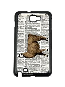Llama On Dictionary Retro Vintage Zoology Samsung Galaxy Note 2 Note II N7100 Case - For Samsung Galaxy Note 2 Note II N7100