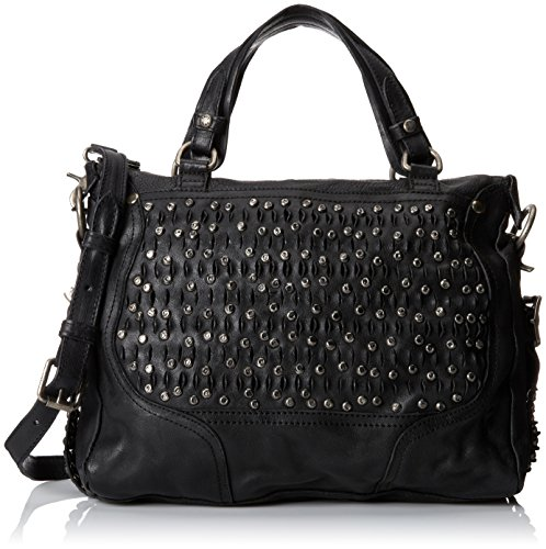 FRYE Diana Stud Satchel Top Handle HandbagBlackOne Size