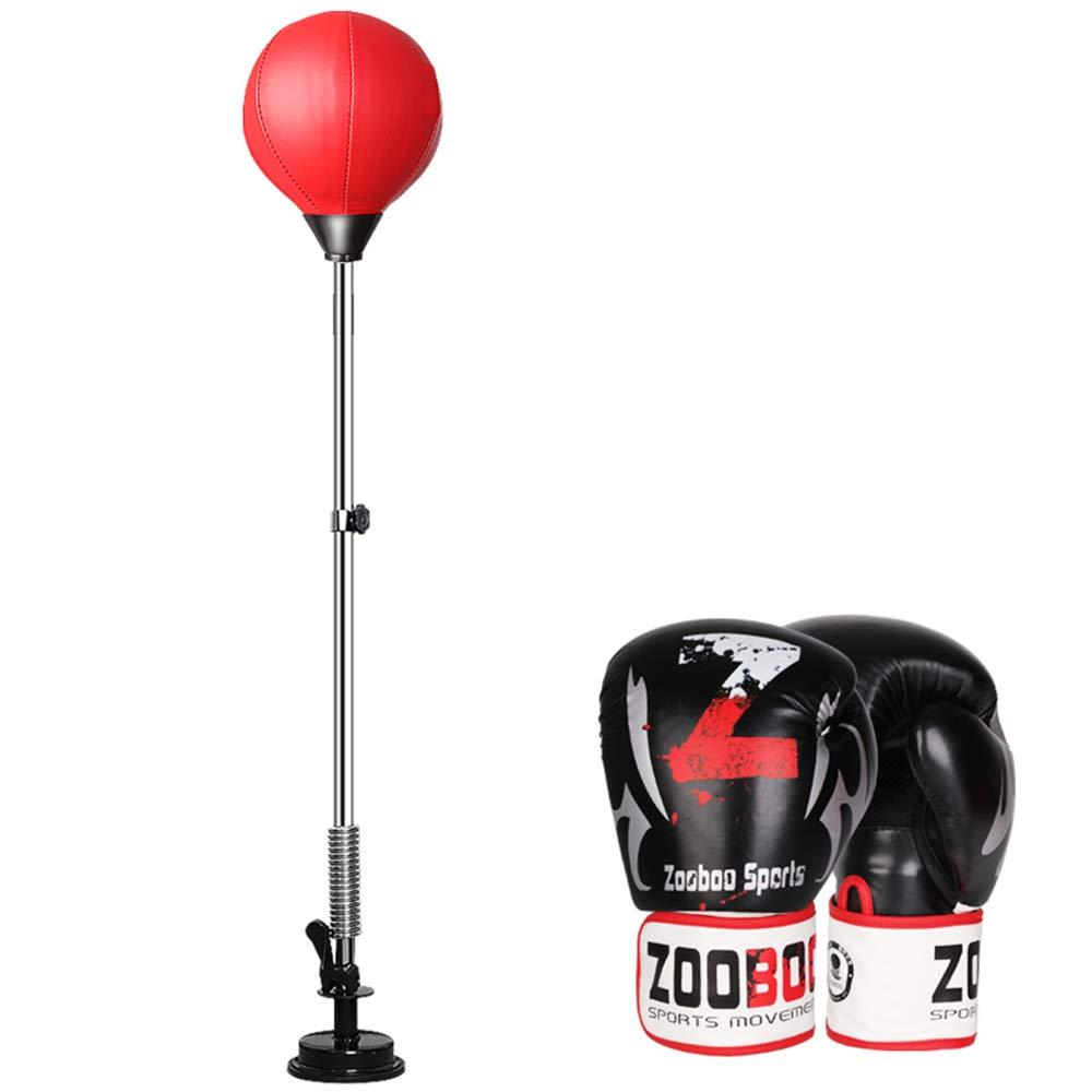 調整可能なボクシングパンチ、スピードボールボクシングバッグ反ストレスフィットネスボクシンググローブティーンエイジャー大人調節可能な 35 ' に 57 ' 高さ  suckeradult