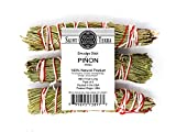 Saint Terra Pack of 3 Pinon Pine Smudge Stick (4 Inches) for Prosperity, Success, New Beginnings, Strength, and Purification.
