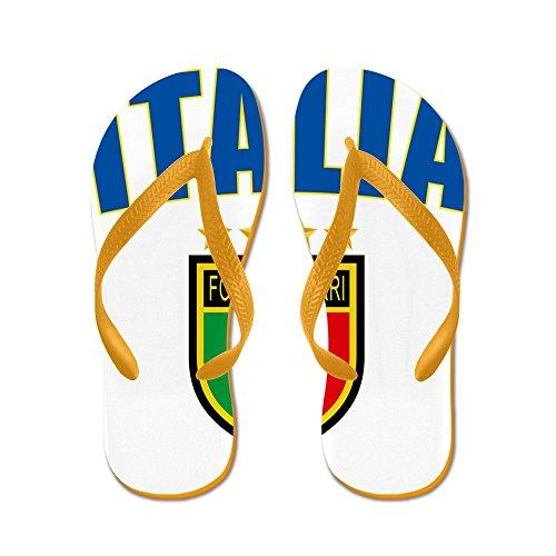 Cafepress Italian World Cup Soccer - Flip Flops, Grappige String Sandalen, Strand Sandalen Oranje