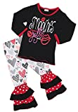 #7: Angeline Boutique Clothing Girls Valentine's Day Ruffles Outfit Set - Various Styles