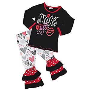 Boutique Clothing Girls Valentine's Day Ruffles Outfit Set – Various Styles