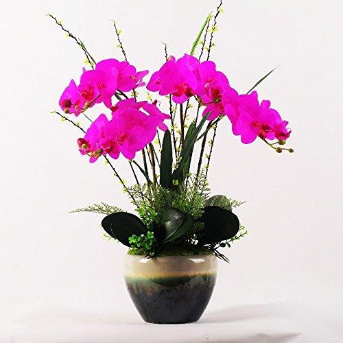 LUOSAI 蝶蘭人工Puシルクフラワーフェイク装飾花瓶パープルビッグ B07RDC3HRD