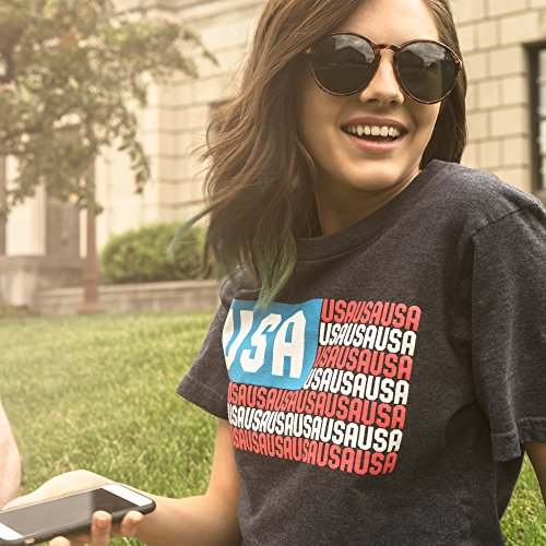 American Flag USA T Shirt: Red, White and Blue Graphic Tees for Men, Women, Teens and Kids - Small by Epivive (Image #4)