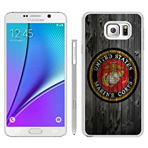 Durable High Quality United States Marines LOGO White Samsung Galaxy Note5 Screen Phone Case