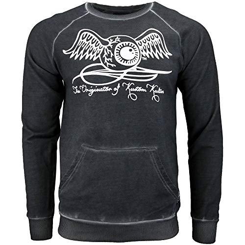 Dutch Long Sleeve - Von Dutch Mens Long Sleeve French Terry Tee Casual T-Shirt Black XXL