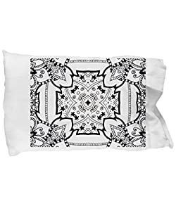 Amazon.com: Coloring Pillowcases for adults with mosaic patterns ...