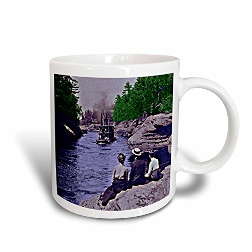 3dRose Vintage 1899 Wisconsin Dells Narrows Ceramic Mug, - Wisconsin Dells Outlets