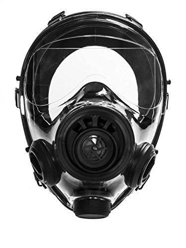 Mestel Safety - Full-face Gas Mask, Anti-Gas Respirator Mask - Resistant to Chemical Agents and Aggressive Toxic Substances - Suitable for Pesticide and Chemical Protection - SGE 400/3 BB S/M ()