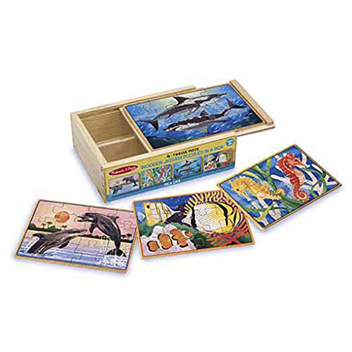 Faerynicethings Sea Life Wooden Jigsaw Puzzle In a Box