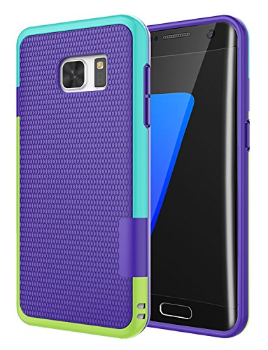 Cheap Cases Galaxy S7 Edge Case, Jeylly [3 Color] Slim Hybrid Impact Rugged Soft..