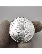 2021 New Year Gifts Mexican Mayan 1oz 999 Fine Silver Coin Maya Aztec Calendar Prophecy Culture Christmas Coins Souvenirs