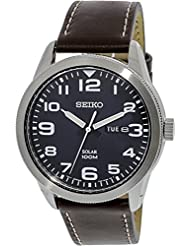 Seiko Solar Dark Blue Dial Mens Watch SNE475P1
