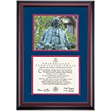 Pennsylvania UPenn Quakers Diploma Frame Blue Red Matting Photograph