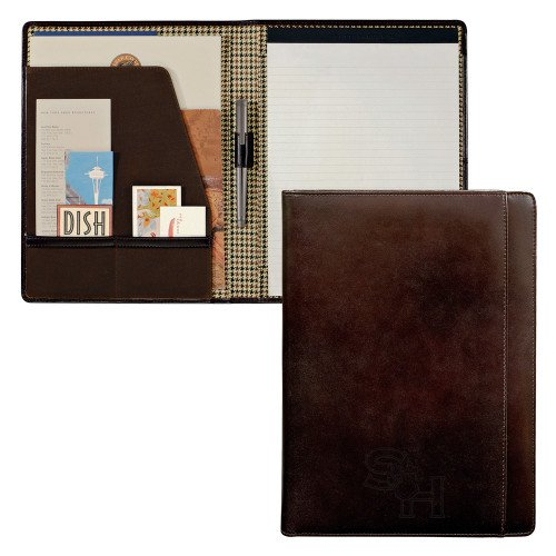 SHSU Cutter & Buck American Classic Mahogany Writing Pad 'SH Paw Official Logo Debossed' by CollegeFanGear