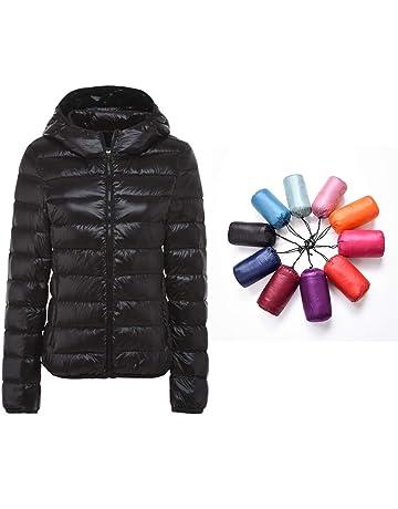 e947f2e1b83 Packable Down Jacket Women Hooded Ultra Lightweight Short Winter Jacket with  Carry-on Bag