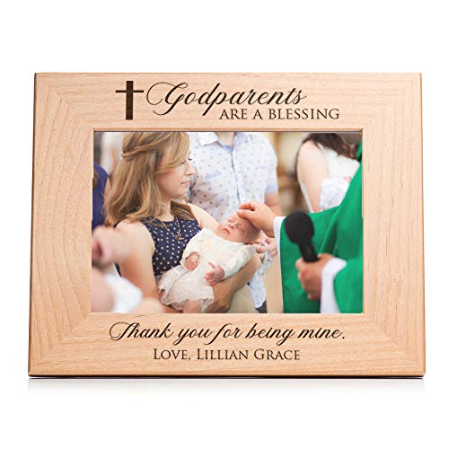Lifetime Creations Personalized Godparent Picture Frame: Personalized Godparent Gift, Engraved Godparent Frame, Holds 5