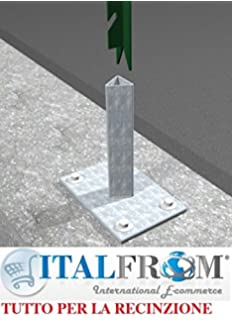 Italfrom Supporto Zincato A Vite Per Palo Palletto A T 30x30 Nel