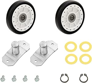 LA-1008 Rear Dryer Roller & Axle Kit Compatible With Whirlpool, Maytag, Amana Dryer,Replaceable LA1008, PS2162268, AP4242491,31001096, WP31001096, etc.