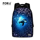 Cheap FOR U DESIGNS Classic Undersea World Design Funny School Laptop Backpack for College