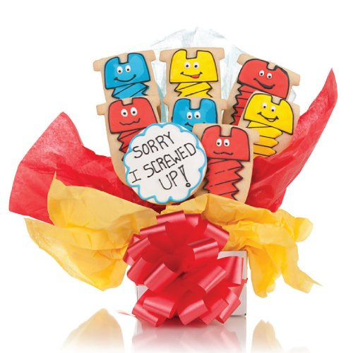 Sorry I Screwed up! Cookie Bouquet- 9 Pc -