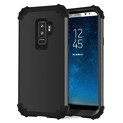 Galaxy S9 Plus Case, Shayson Shockproof Premium Case Anti-Scratch Hybrid Dual Layer TPU Silicone Bumper Hard PC Protective Case Cover for Samsung Galaxy S9 Plus 2018 (Black)