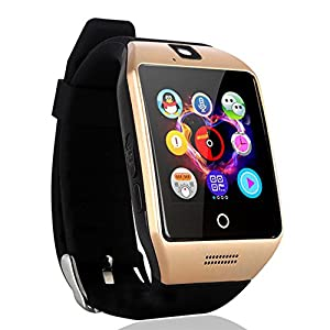 AGPtEK Q18s Smart Watch LCD tactile intelligente montre-bracelet avec caméra NFC Support Carte SIM de suivi de téléphone Anti-perdu message d'appel Sync pour Android Smart Phone Samsung S6 / S7 / Note 2/3/4/5, Nexus, HTC, SONY, HUAWEI et autres Smartphones Android