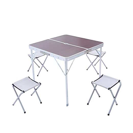 Gghy-camping tables Mesa Plegable al Aire Libre Mesa de Aluminio ...