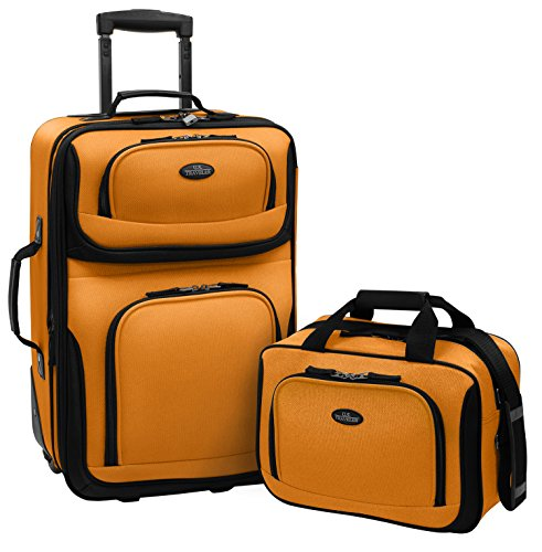 U.S Traveler Rio Two Piece Expandable Carry-on Luggage Set (14-Inch and 21-Inch) (Best 2 Piece Carry On Luggage Sets)