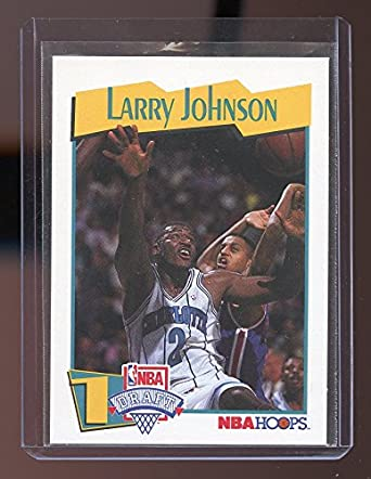 1991 92 Hoops 47 Larry Johnson Charlotte Hornets Rookie Card Mint