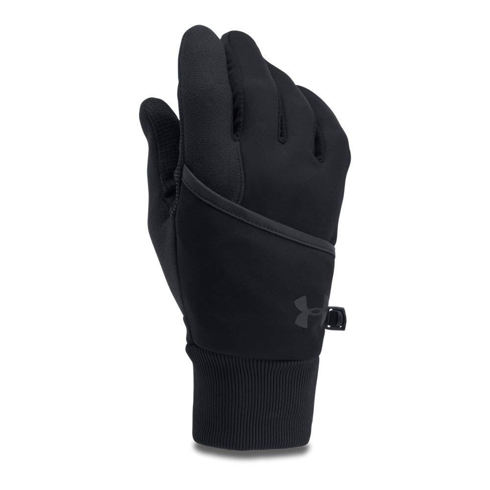 Under Armour Men's Convertible ColdGear Reactor Run Gloves, Black (001)/Black, Small/Medium