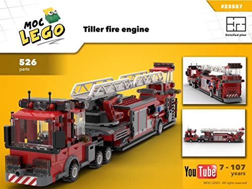 Tiller fire engine (Instruction Only): MOC LEGO por Bryan Paquette