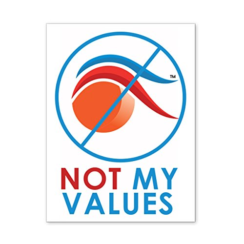Not My Values Removable Anti Trump Bumper & Window Sticker