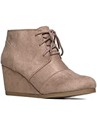 Amazon.com: Wedge - Ankle & Bootie / Boots: Clothing, Shoes & Jewelry