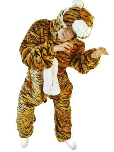 Fantasy World Adults Tiger Costume 16-18 / XL F14 - Safari Outfits For Adults