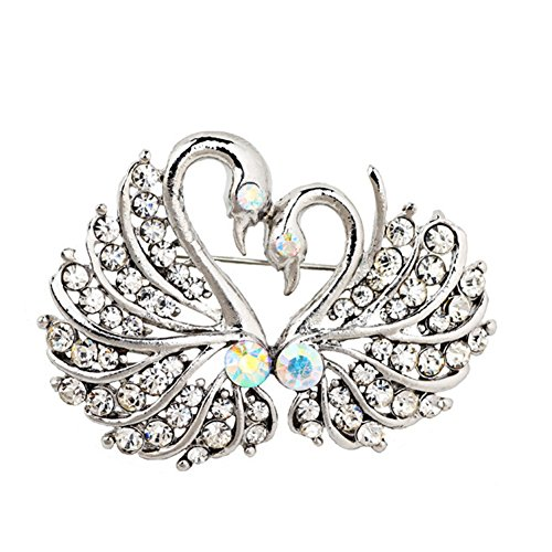 Stylish Pin Brooch (Baost Stylish Elegant Swan Crystal Rhinestone Brooch Pin Bridal Luxurious Corsage Brooch Pin Party Daily Jewelry Wedding Dress Brooches for Women M)